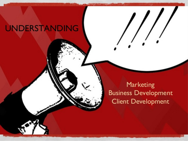 What is marketing and business development?