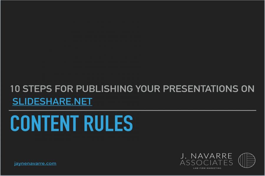 Repurpose your presentation for publishing on SlideShare
