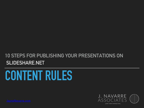 Content Rules for Presentations