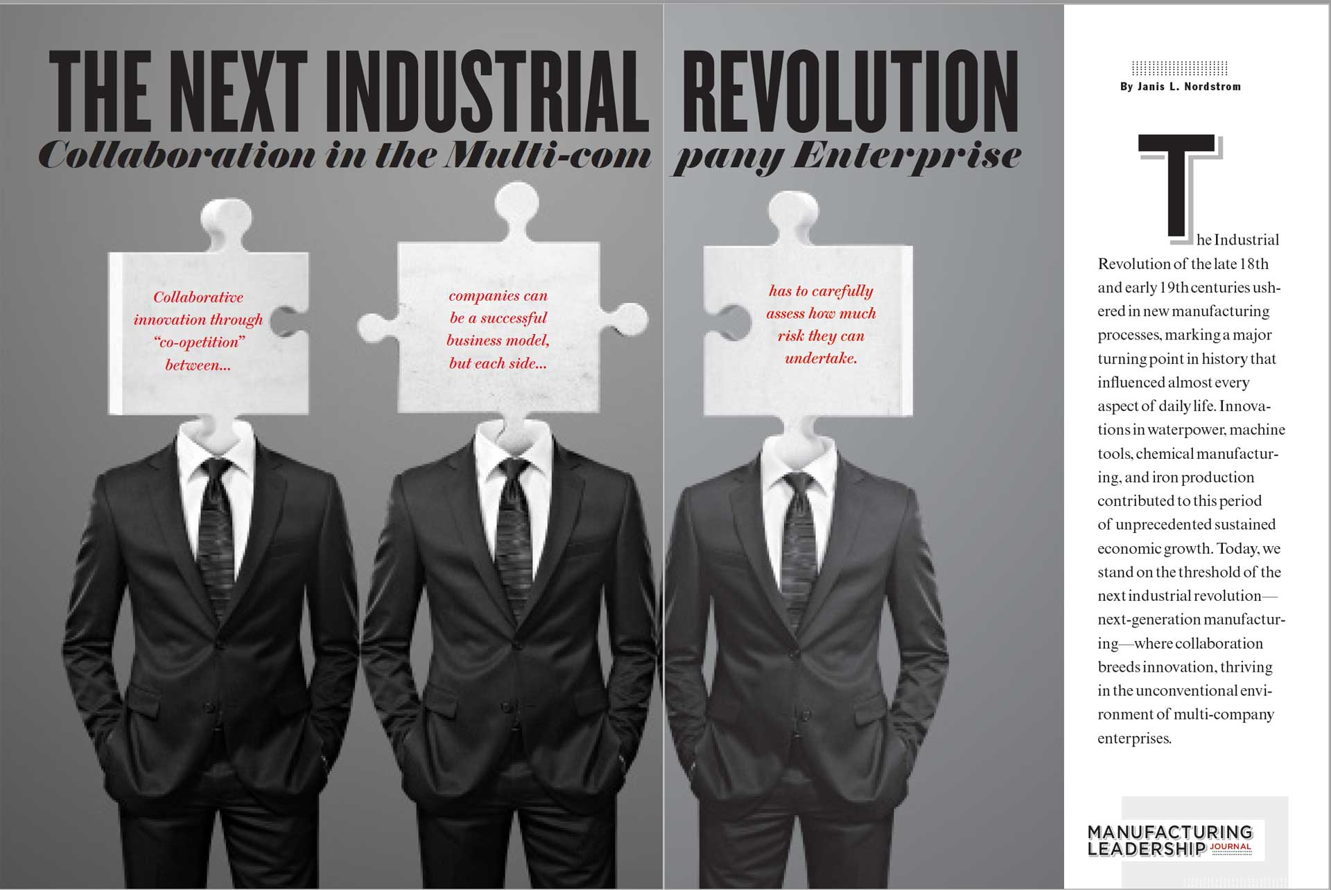 the next industrial revolution Informed manufacturing: the next industrial revolution the future of manufacturing is here, compliments of intelligent machines that enable people, processes.
